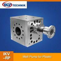 Using range and characteristics of the melt pump