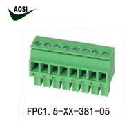 Spring Clamp Wire Termination PCB Terminal Blocks 15EDGKB-3.81 TS B 3.81 MCVR/MCVW 1.5 thumbnail image