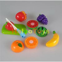 Kitchen Play Set Plastic Fruit Cutting Toys For Kids