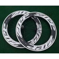 New carbon alloy wheel 700c carbon aluminum 90mm clincher wheel with road Black super light hub 11s