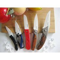 Outdoor camping knife,ceramic lock pocket knife