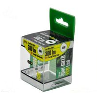 Retail box for lighting products, color print hard plastic packaging box
