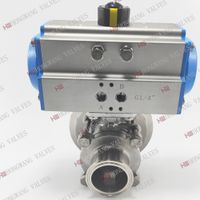 Stainless Steel Sanitary Pneumatic 3PC Tank Bottom Valve for Food Grade