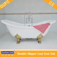 Cast Iron Double-Slipper Clawfoot Tub