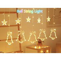 christmas light string decorative string light windows curtain string light