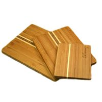 TF030 / 3 Color Tone 2015 Bamboo Wooden Cheese Chopping Board Counter Set
