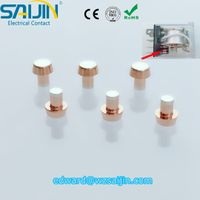 Trimetal triple electrical contact rivet for Relay Switch ex-factory