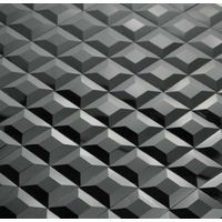 Black Color Bevelled Mirror Glass Mosaic Tile for Club Pub Wall Decoration thumbnail image