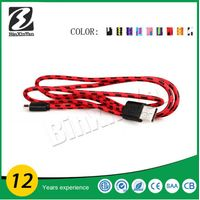 OEM mobile phone micro USB Cables,colorful micro braided usb cable