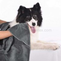 1001TE Dry Microfiber Dog & Cat Bath Towels with Two Triangular Pocket thumbnail image