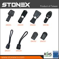 Stonex Plastic zipper puller with strap for garment and golf bags s