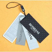 custom clothing printed hang tags/swing tags/hangtags with string design thumbnail image