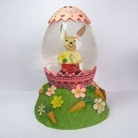 Resin Music water globe for Easter Decoration