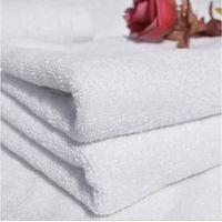 100% white plain bath towel stock lots thumbnail image