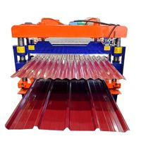 Material Thickness 0.3-0.6mm glazed tile roofing plate roller forming machine thumbnail image