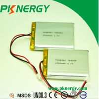 3.7V 2500mAh Lithium Polymer Battery 785060 Batteries Cell for Digital Products Battery thumbnail image