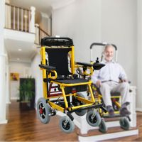 Fabio electric stair climbing wheelchair with lithium battery power connects wheelchair