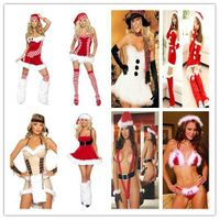 Sexy Christmas Costume with Stripe (www lingerieoffer com) thumbnail image