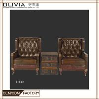 Italy new modern genuine sectional leather sofa furniture thumbnail image