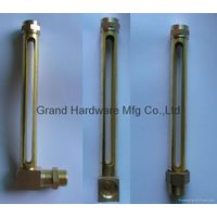Brass Tuber Oil level gauge with real glass NPT thread