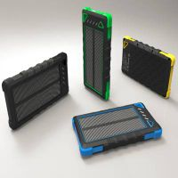 High Capacity 8000mAh Solar Power Bank waterproof power bank