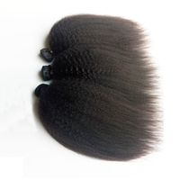 Brazilian Human Hair afro Hair Kinky Straight NaturalBlack Remy Hair