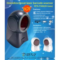 Omnidirection desktop laser barcode scanner in retail