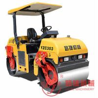Hot Sale! 3 tons Double Drum Vibratory Roller(YZC303 Chain Drive)