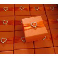 European style organge square paper gift box