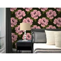 New Collection Floral Design Home Interior Decoration Nonwoven Wallpaper for Sale thumbnail image