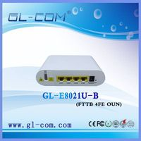 FTTB China Manufacturer 4 Fast Ethernet EPON ONU 4 FE Ports Compatible With Huawei ZTE Communication