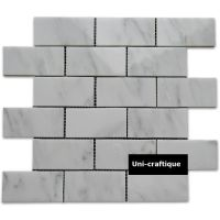 Eastern white / Oriental white marble mosaic tiles brick pattern
