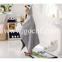 High quality 100% cotton applique baby hooded bath towel