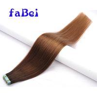 Wholesale Straight Hair extension 100% Brazilian Human Tape Hair Extension thumbnail image