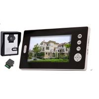 night vision function 7 Inch hands free wireless video door phone entry system with lock function thumbnail image