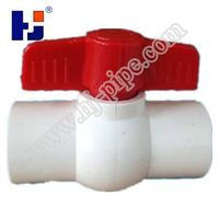 "'HJ"" pvc simple ball valves with two wings handle for water gas oil co2"