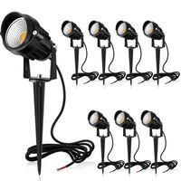 7W LED Landscape Lights Pathway Lights 12V/24V Spotlights Warm White IP66 Waterproof