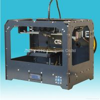 CTC 3D Printer(black)Desktop Rapid Prototyping ABS dual-nozzle
