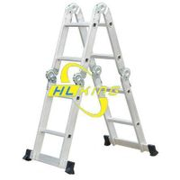 Aluminium folding multi-purpose ladders (small hinge)