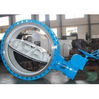 Double offset flange Butterfly valve with rubber seat