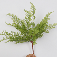 Faux plastic green wall decorative Asparagus setaceus foliage