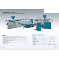 pvc tpr tup automatic double color injection machine