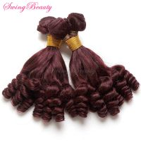 African Funmi Afro Curly Hair Natural Peruvian Human Hair Weft thumbnail image