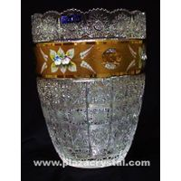405 Bohemia Crystal Gold PK Vase thumbnail image