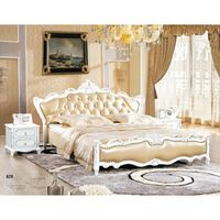 Genuine leather bedroom set 0414-A28