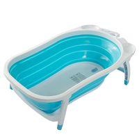 Karibu Baby Folding Bath Child Newborn Bathtub with Support Net and Bath Sponges