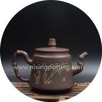 Kung Fu Teapot Bamboo Carving Pure Handmade Tea Pot thumbnail image