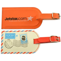 PU colorful small luggage tag for promorion gifts