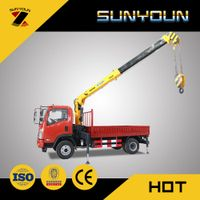 Hot Sale 12 Ton Home-Made Truck Mounted Crane from Henan Sunyoun