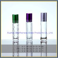 glass roll on cosmetic packing bottle for essential oil